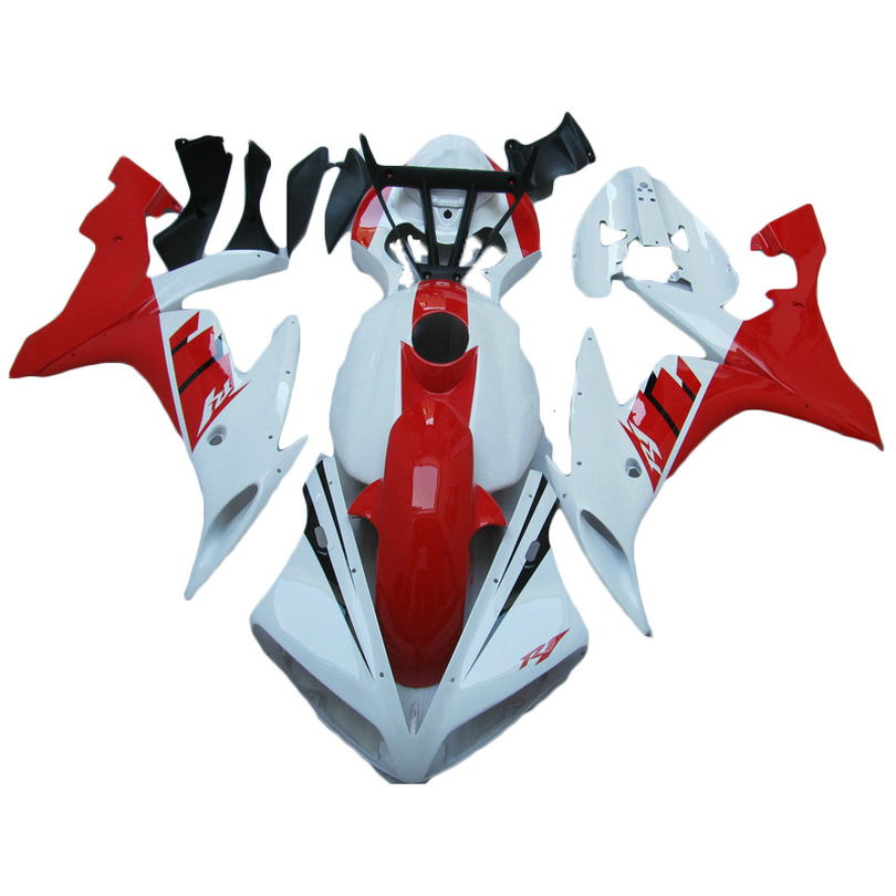 Hot sale Injection molded for YAMAHA R1 04 05 06 red white YZF1000 2005 2004 2006 YZF R1 fairing kit TP06