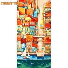 Chenistory рамка городская улица diy Краска по номерам пейзаж