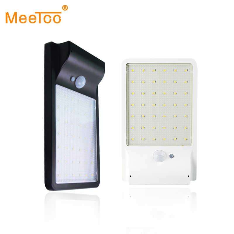 Светодиодный солнечный светильник водонепроницаемый светильник с солнечной батареей 42 светодиодный s IP65 движения PIR Сенсор безопасности наружного света путь настенная лампа для сада точечное освещение