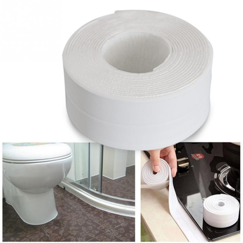 1 ROLL PVC Material Kitchen Bathroom Wall Sealing Tape Waterproof Mold  Proof Adhesive Tape 3.35m*3.8cm In Tape From Home Improvement On  Aliexpress.com ...