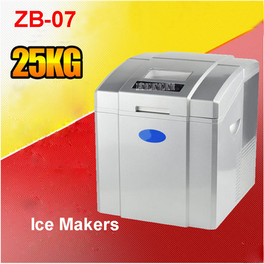 ZB-07 110V/220V Commercial Ice Tea Party Ice Cream Shop With Automatic Ice Maker Shop 20-25kg / 24h Single Ice Time11-15 Minutes