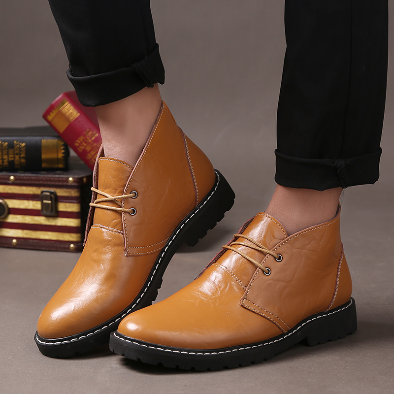 Online Get Cheap Brown Leather Ankle Boots Men -Aliexpress.com ...