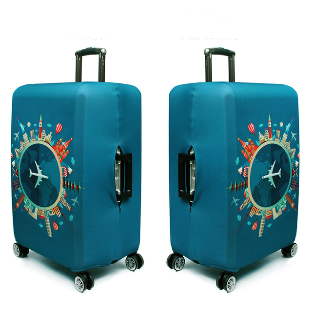Thicker Travel Luggage Protective Cover Suitcase Case Travel Accessories Elastic Luggage Dust Cover Apply to 18''-32'' Suitcase 2