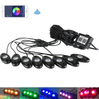 RGB LED Rock Bluetooth Multicolor Neon Lights Waterproof interior Lamp for Jeep Truck Car ATV SUV Vehicle Boat accessories