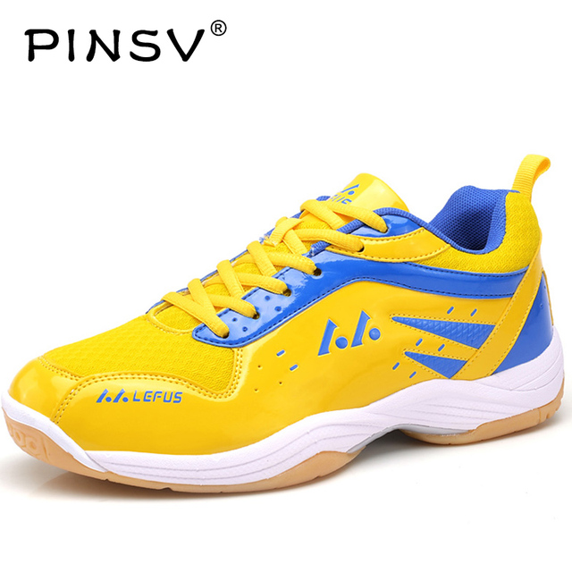 PINSV Badminton Shoes For Men Training Breathable Hard-Wearing  Anti-Slippery Light Sneakers Sport Womens Shoe Badminton Cushion 71bf4d1b3a