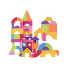 цена 50pcs Children Building Block Baby Toys Building Game Blocks EVA Safe Foam Educational Toys for Kids Blocks free shipping онлайн в 2017 году
