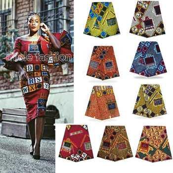 Tela de impresión de cera nigeriana a la moda de Ankara africana...