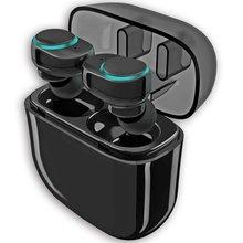 Mini Microfone Sem Fio Fones de Ouvido Fones de Ouvido Bluetooth 4.2 Estéreo de Alta Fidelidade Portátil Toque Controlado Carregamento Sweat-proof Dust-proof