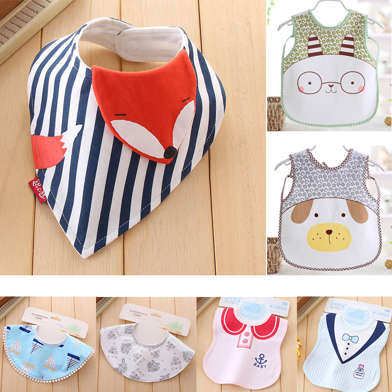 Clearance Sale Baby Bib Bandana Bibs Cartoon Burp Cloth Organic