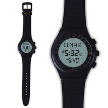 Мусульманские Азан Часы 6506 Черный Цвет Исламская Азан Часы 100% Новый Происхождение 1 шт. Подарочный Пакет