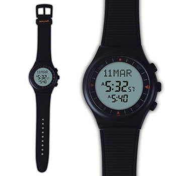 Muzułmanin Azan zegarek 6506 czarny kolor islamski Azan zegarek 100% nowy pochodzenie 1 sztuk pakiet prezent