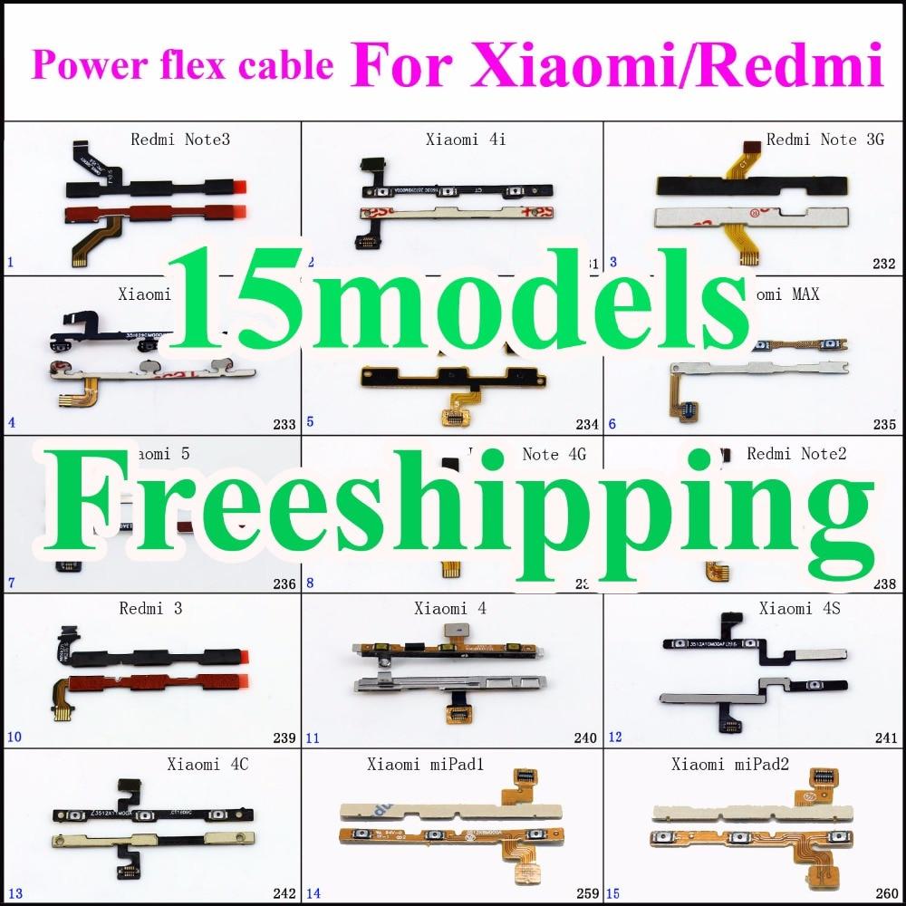 1x Volume Button Flex Cable For Xiaomi Mi 3 4 4C 4S 4i 5 Max Redmi 4A Note 3 Pro 2 4 Switch Connector On Off Button Cable Ribbon