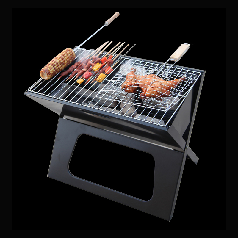 New barbecue Grils pliage brûler four en plein air en acier inoxydable plus portable BabeQ grill charbon de barbecue puits sauvage