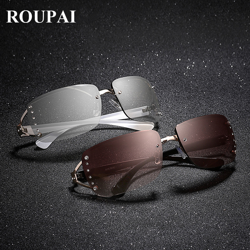 Hot cuadrado gafas de sol mujer gafas de sol retro diamante sin montura gafas  de sol señora vintage sunglasses 100% rayos anti gafas 379ea5a1d4