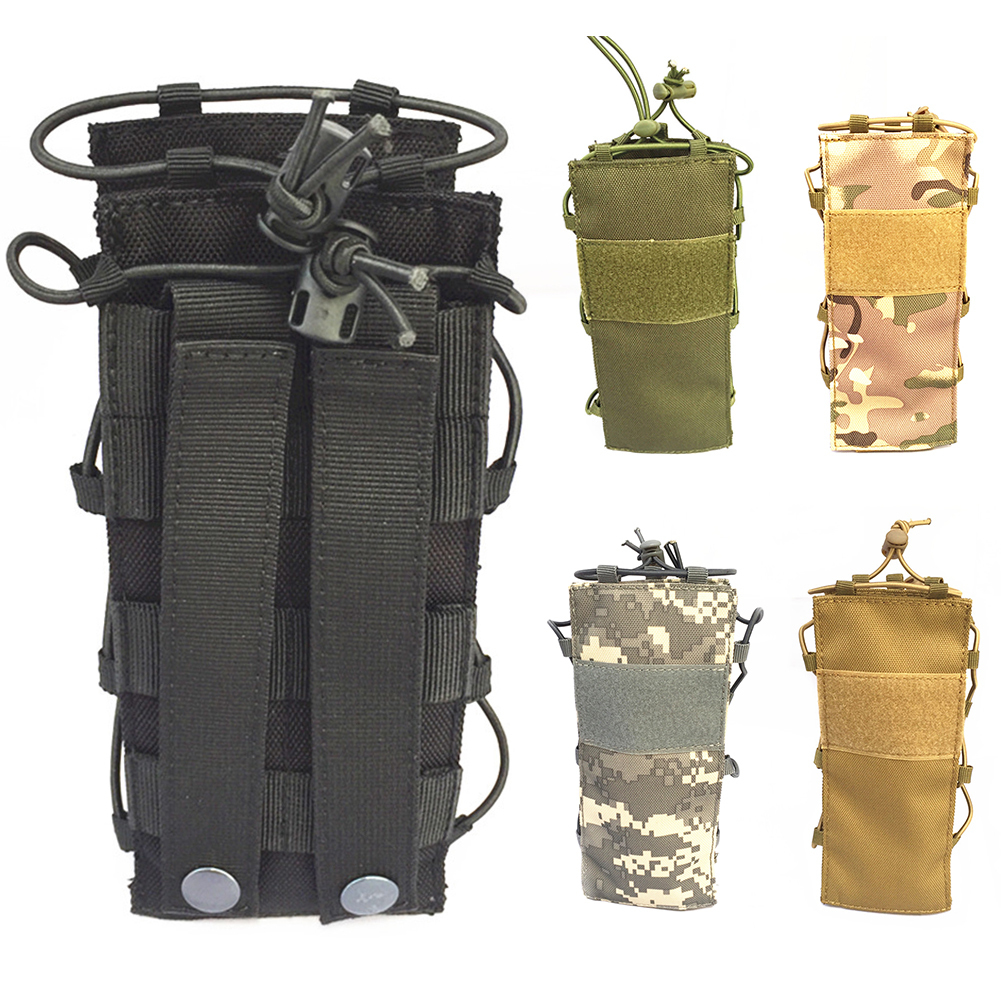 Outdoors Tactical Molle Water Bottle Bag Pouch Gear Kettle Bag for Army Fans Climbing Camping Hiking Bags