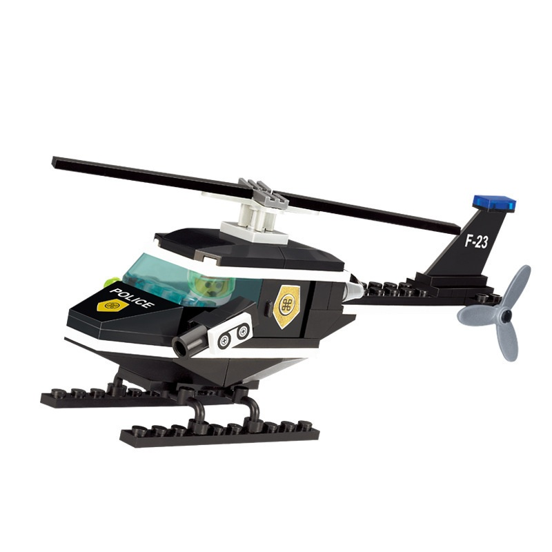 ENLIGHTEN City Police Helicopter aircraft air force Building Blocks Sets Bricks Model Kids Classic Toys Gift Compatible Legoings enlighten city series double wings show aircraft building blocks sets bricks model kids toys compatible legoe