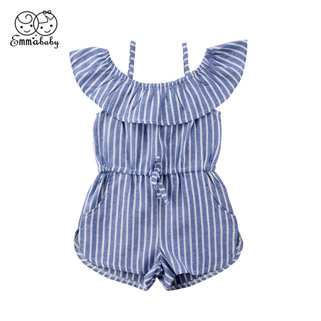 0be404885 Summer Children Clothing 2018 Fashion Kids Girls White   Blue ...