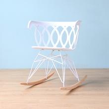 Modern Design Popular Home Decoration Rocking Chair Plastic Shell Rocker  Home Loft Rocking Chairs Leisure Chair