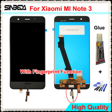 Sinbeda LCD Display For Xiaomi MI Note 3 LCD+Touch Screen Digitizer Assembly For MI Note 3 Black/Blue 5.5″ LCD Replacement+Glue
