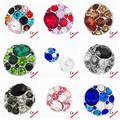 mix Colorful passion theme big rhinestone metal snap button snap jewelry buttons for diy snap jewelry bracelet or necklace