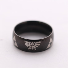 The Legend of Zelda Rings Stainless Steel Ring Gold Silver Black Color Available Jewelry Factory Wholesale YP2163
