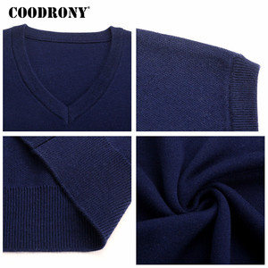 Image 5 - COODRONY Classic V Neck Sleeveless Vest Men Cashmere Wool Sweater Men Clothes 2018 Autumn Winter Business Casual Pull Homme 8145