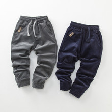 SHOUHOU 2017 Children Clothes Corduroy Trousers Boys Spring Autumn Animal Print Trousers Casual Outwear Trousers Kids Clothing