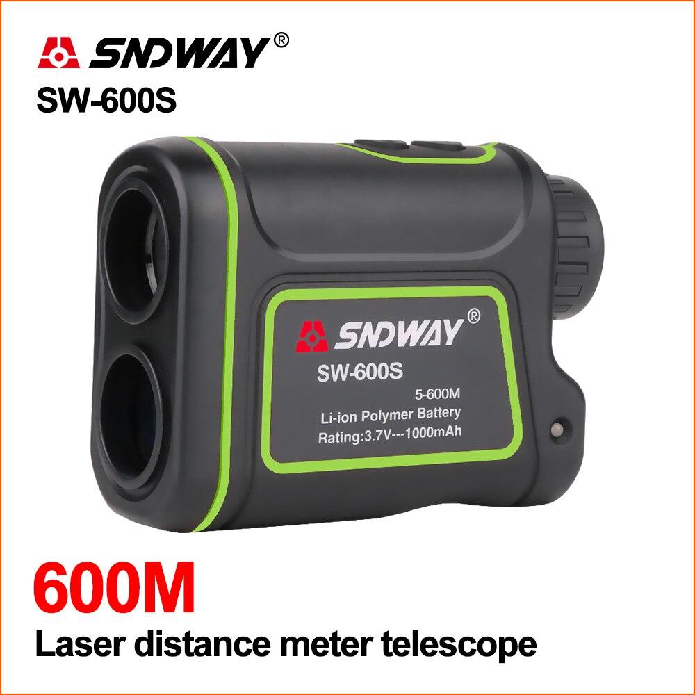 SNDWAY Telêmetro Laser Medidor de Distância a Laser Rangefinder Golfe Caça Telescópio Digital Range Finder 600 m Metros de Distância A Laser