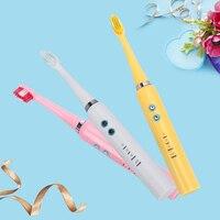 AZDENT Wireless Electric Toothbrush Rechargeable Ultrasonic Sonic Electric Tooth Brush 3 Replacement Brush Heads 3 Mode