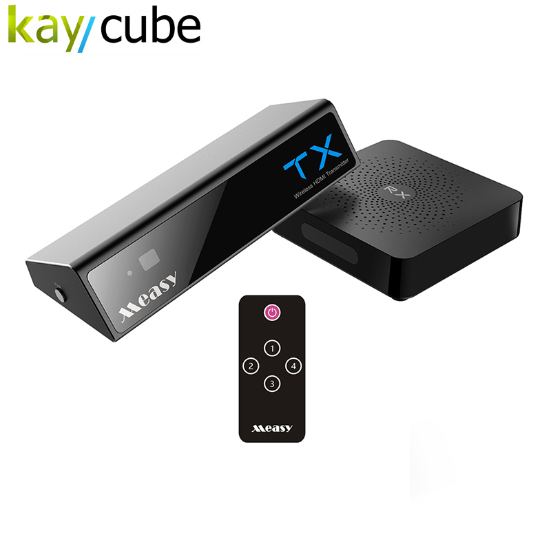 W2H Max Wireless HDMI Video Transmitter and Receiver HD1080P 4 HDMI IN Extender up to 30M/100 Feet Wireless HD 60GHZ Video Audio