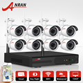 ANRAN 8CH Wireless NVR CCTV System P2P 1080P IP Camera WIFI Waterproof IR Night Vision Home Security Kit Surveillance Camera Set