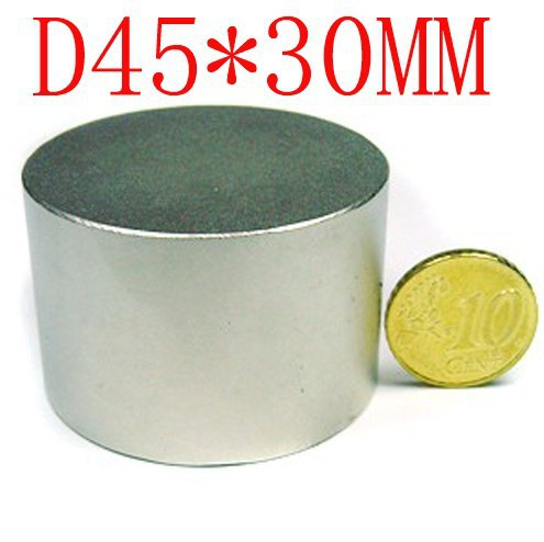 цены wholesale 1pcs 45mm x 30mm disc powerful magnet craft neodymium rare earth permanent strong n50 n52 45*30 45x30 free shipping