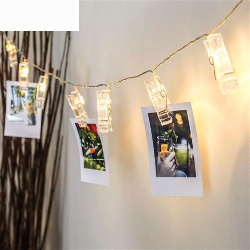 LED Clip Light String To Hang Photos Lights Lantern Picture LED Clip Lighting Party Internet Celebrity Room Decor Lamp MA6