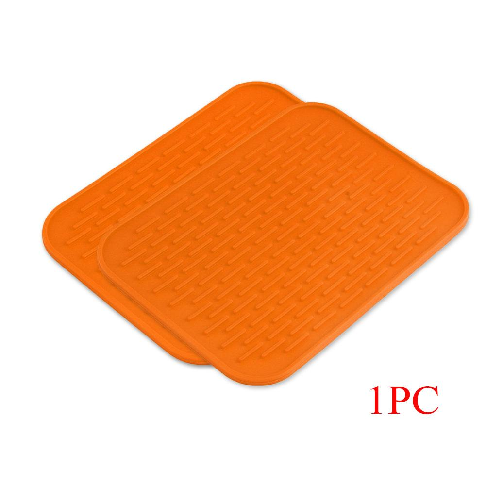 Orange Nonslip Heat Resistant Mats Cup Coaster Cushion Placemat Pot Holder  Table Silicone Pad