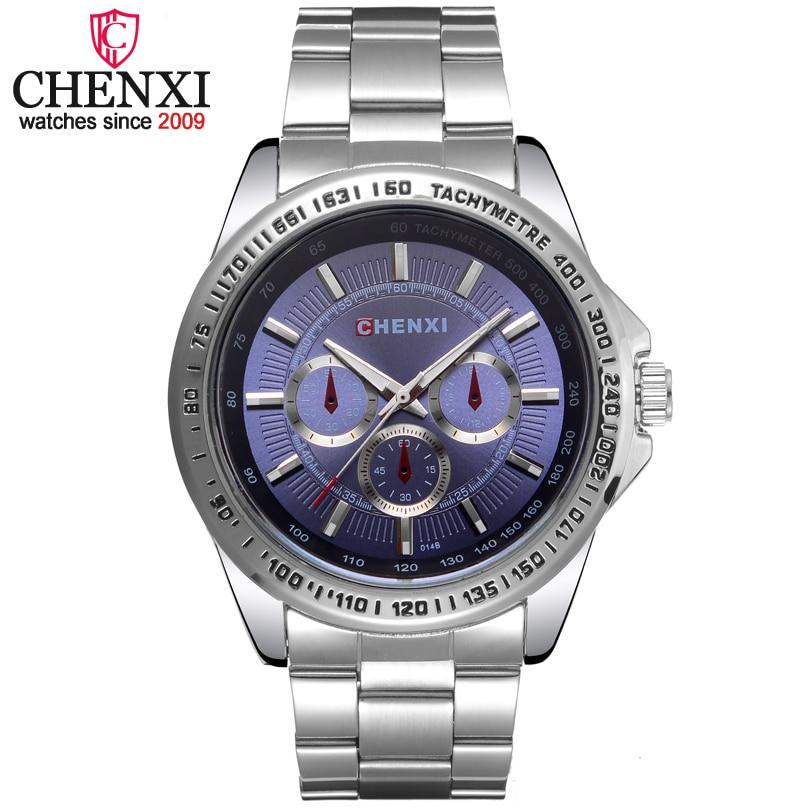 цена на CHENXI Brand Fashion Men's Quartz Watch Men Sport Watches Stainless Steel Relogio Masculino 30M Waterproof Male Wristwatch Clock