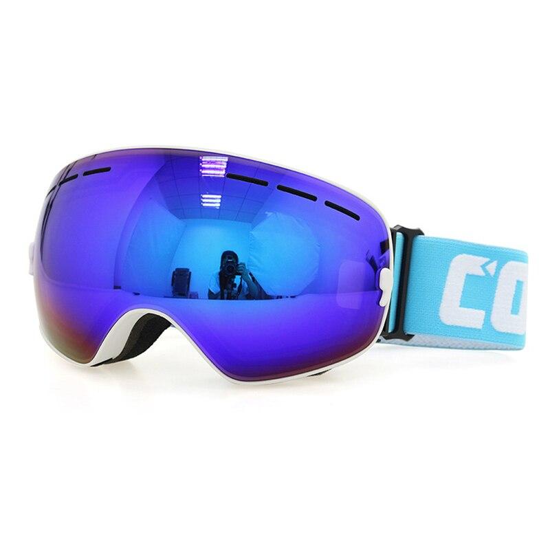 Gafas de esquí Doble antivaho 100% UV 400 Gafas de Esquí para los hombres mujere