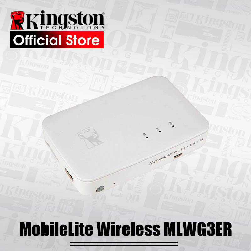Kingston Power Bank MobileLite Multifunction wifi Wireless G3 External Battery Bank storage and backup for iOS