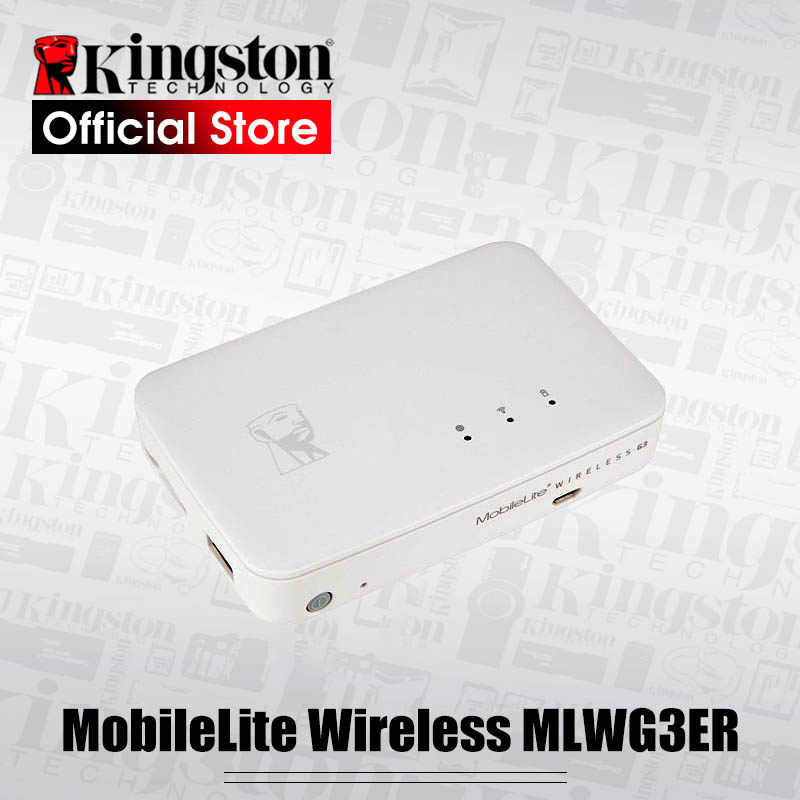 Kingston Power Bank MobileLite Multifunction wifi Wireless G3, External Battery Bank, storage and backup for iOS Android mobile