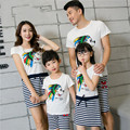 La familia a juego de moda del equipo Family Clothing madre e hija vestido de padre hijo ropa que arropan la familia BER05