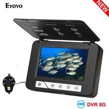 """EYOYO водонепроницаемый IP68 DVR рыболокатор """" ЖК монитор видео камера 1000TVL подводная ледовая Рыбалка ecoscandaglio камера"""