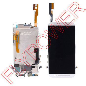 Подробнее о 100% Warranty For HTC One M8 LCD Display With Touch Screen Digitizer frame Asembly Replacement white by free shipping black white color for htc one m8 1pc lot lcd display touch screen digitizer with frame replacement free shipping