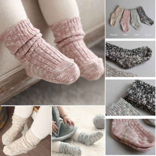 2018 Mix Color Cotton Baby Socks for Girls Boys Children Socks Ankle Length Thick Winter Infant Calcetines 1 Pair