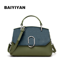 New arrival Genuine Leather paperclip buckle designed women handbag women's clutch bag Women messenger bag shoulder bags