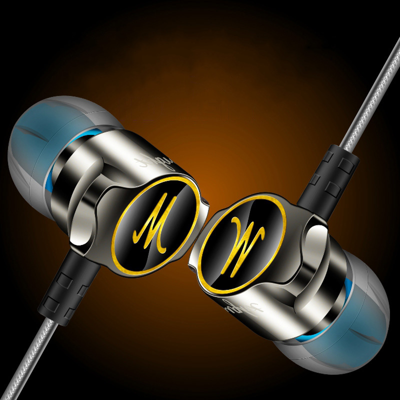 Fonge D06 XBS BASS Stereo In-Ear Earphones with Microphone for Mobile Phone Noise Cancelling Earbud DJ Earpiece Mic Earbuds