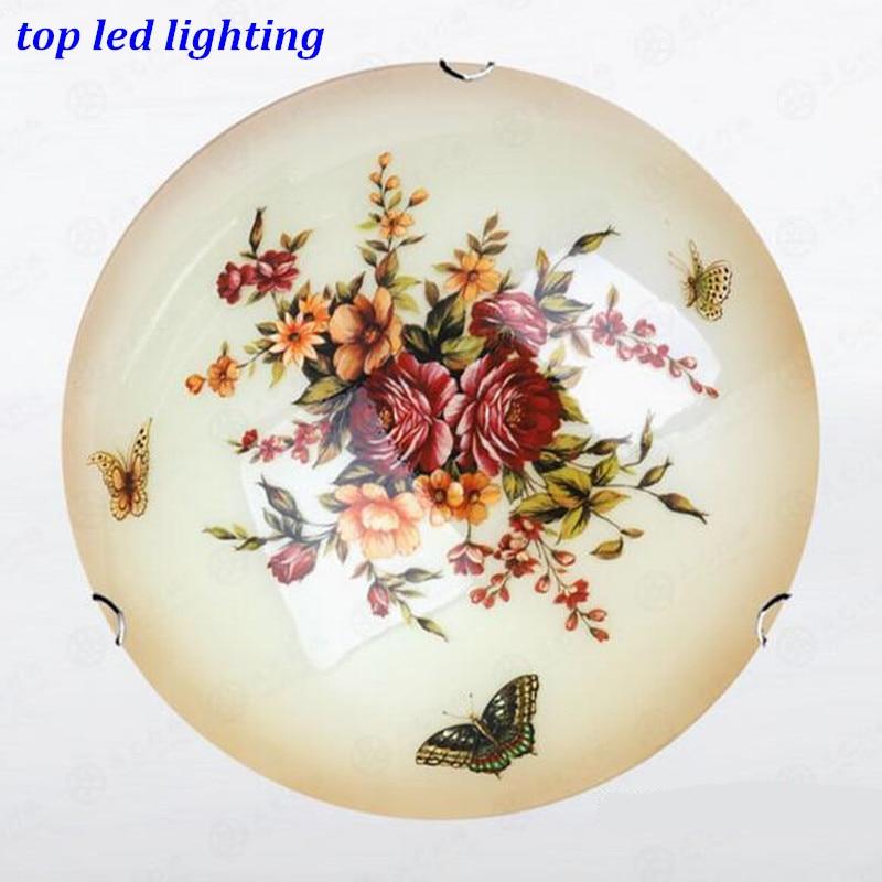 Vintage Handmade Butterflies Glass Ceiling Light for Aisle Bedroom Living Room E27 Ceiling Lamps Dia 30/40/50cm AC 80-265V 1145