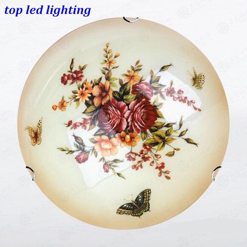Vintage Handmade Butterflies Glass Ceiling Light for Aisle Bedroom Living Room E27 Ceili ...