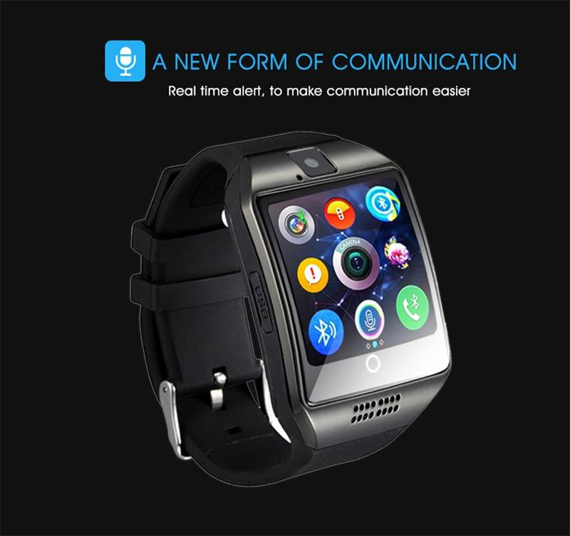 MOCRUX Q18 Passometer Smart watch with Touch Screen camera Support TF card Bluetooth smartwatch for Android IOS Phone 13