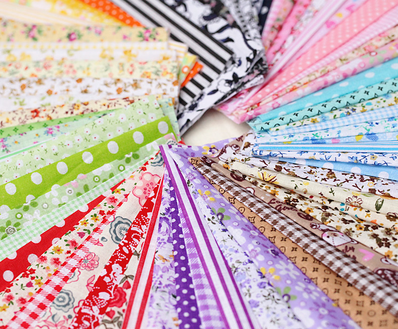 Booksew Telas Patchwork Algodon Tissu Material <font><b>100</b></font>% Cotton Fabric For Dolls Charm Packs <font><b>50</b></font> Pcs/lot 10cmx10cm DIY No Repeat Cloth image