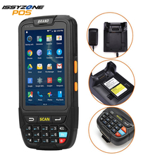 Android 5.1 PDA Handheld POS terminal Support GPS GPRS Wifi Bluetooth 4G Mobile 1D 2D QR Barcode Reader For Tablet Pc Camera недорого