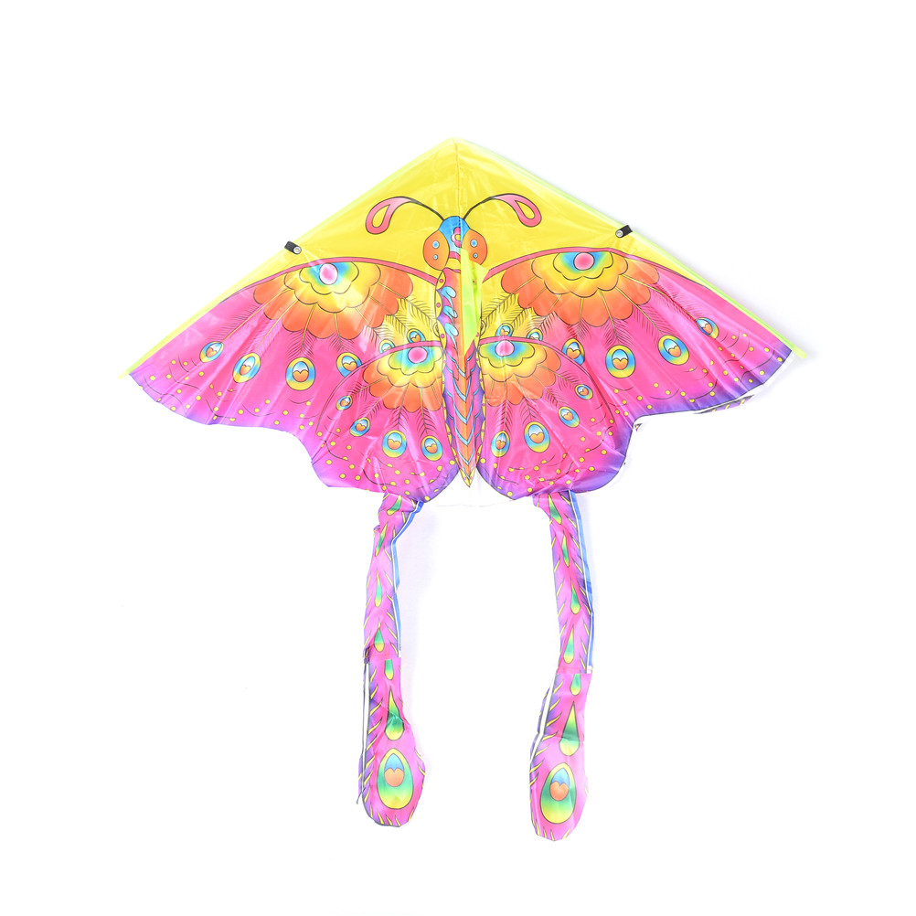1Pcs 50cm Outdoor Sports Butterfly Flying Kite Medium Colorful Foldable Kite Recreation Outdoor Fun  Sports Kids Toys